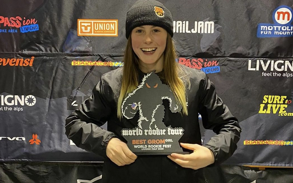 GB Snowboarder Mia Brookes Wins Livigno Stop On World Rookie Tour